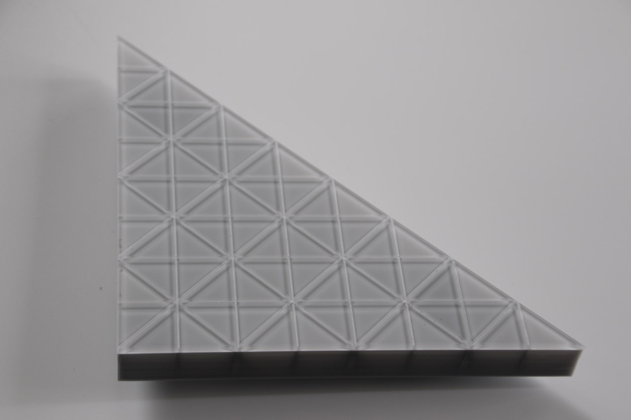 fully video capable LED module in a triangular shape