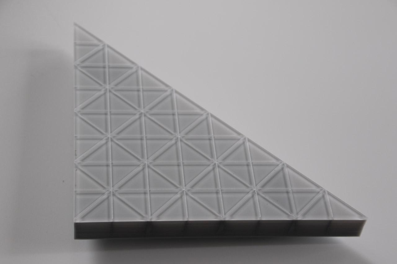 voll videofähiges LED-Modul in einer dreieckigen Form